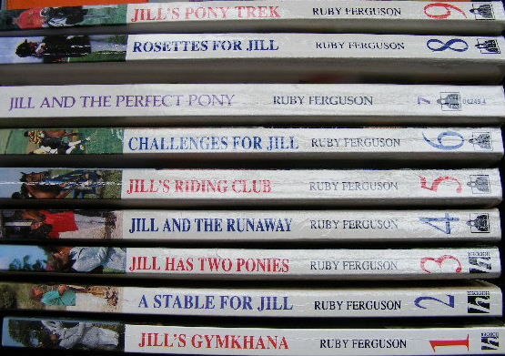 Picture of Jill paperback series showing series numbering on spines