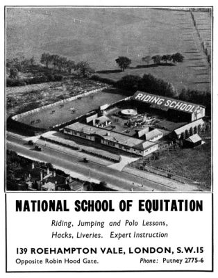 Aerial view of the National School of Equitation